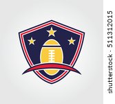 rugby logo vector. sport team... | Shutterstock .eps vector #511312015