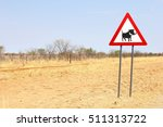 warning road sign for crossing...
