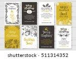 merry christmas invitation set. ... | Shutterstock .eps vector #511314352