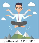 office man yoga illustration | Shutterstock .eps vector #511315342