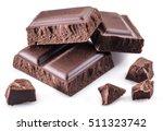 pieces of chocolate bar... | Shutterstock . vector #511323742