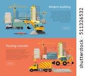 modern building. process of... | Shutterstock .eps vector #511326532
