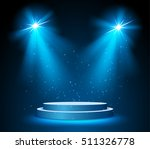 illuminated round stage podium... | Shutterstock .eps vector #511326778