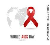 world aids day. 1st december... | Shutterstock .eps vector #511344892
