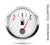 fuel gauge with chrome frame.... | Shutterstock .eps vector #511349746