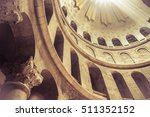 Light Dome in the church of the Holy Sepulcher in Jerusalem, Israel