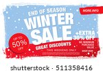 winter sale banner. vector... | Shutterstock .eps vector #511358416