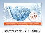 winter sale banner. vector... | Shutterstock .eps vector #511358812