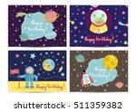 happy birthday kids greeting... | Shutterstock .eps vector #511359382