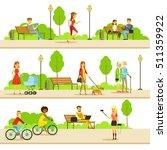 people different activities... | Shutterstock .eps vector #511359922