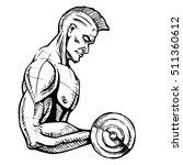 fitness. powerful muscular man...   Shutterstock .eps vector #511360612