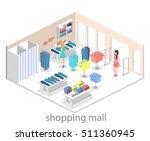 isometric infographic flat 3d... | Shutterstock .eps vector #511360945