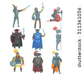 knights in full armor set of...