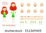 schoolgirl. character design... | Shutterstock .eps vector #511369405
