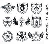 heraldic designs  vector... | Shutterstock .eps vector #511370326