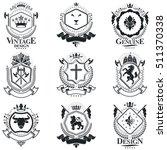 heraldic signs  elements ...   Shutterstock .eps vector #511370338