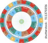 vedic astrology jyotish chart... | Shutterstock .eps vector #511370356