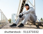 portrait of a young pensive... | Shutterstock . vector #511373332