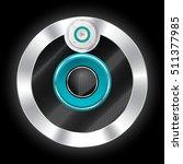 cool metallic plated speaker... | Shutterstock .eps vector #511377985