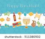 happy hanukkah seamless poster. ...   Shutterstock .eps vector #511380502