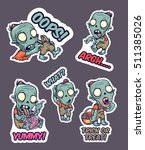 halloween set of stickers with... | Shutterstock .eps vector #511385026