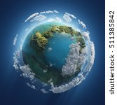 earth day  small planet in the... | Shutterstock . vector #511385842