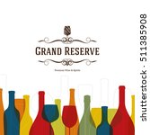 wine list design. vector... | Shutterstock .eps vector #511385908
