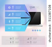 infographic design with... | Shutterstock .eps vector #511387108