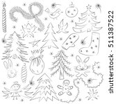 hand drawn funny doodle...   Shutterstock .eps vector #511387522