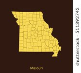 map of missouri | Shutterstock .eps vector #511392742