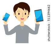 man has a mobile phone and... | Shutterstock .eps vector #511394662