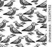 doodle cute ravens vector... | Shutterstock .eps vector #511397452