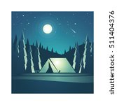 camping in the mountains.... | Shutterstock .eps vector #511404376