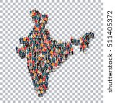 people map country india vector | Shutterstock .eps vector #511405372