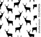 black deer  deer silhouettes ... | Shutterstock .eps vector #511405426