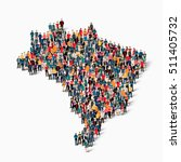 people map country brazil vector | Shutterstock .eps vector #511405732