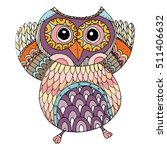 owls vector  owls illustration... | Shutterstock .eps vector #511406632