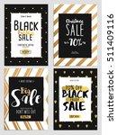 set of chritmas sale flyer... | Shutterstock .eps vector #511409116