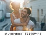 young couple dating at... | Shutterstock . vector #511409446