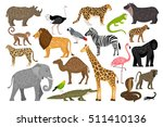 lovely set of african animals... | Shutterstock .eps vector #511410136