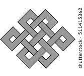 celtic knot. node happiness....   Shutterstock .eps vector #511415362