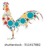 cock shape vector design by... | Shutterstock .eps vector #511417882