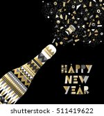 gold happy new year card design ... | Shutterstock .eps vector #511419622