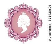 elegance pink cameo with... | Shutterstock .eps vector #511420606