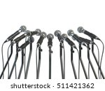 microphones prepared for press...   Shutterstock . vector #511421362
