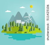 environmentally friendly world. ... | Shutterstock .eps vector #511425106