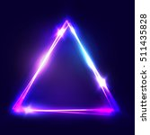neon sign. triangle background. ... | Shutterstock .eps vector #511435828