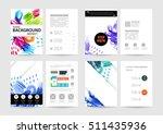 set of hand drawn universal... | Shutterstock .eps vector #511435936