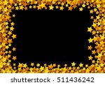 golden stars glitter scattered... | Shutterstock .eps vector #511436242