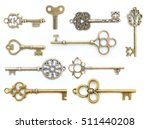 Collection Of  Old Key Isolated ...